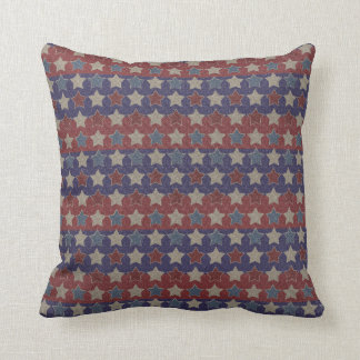 Red White Blue Vintage Stars Cushion