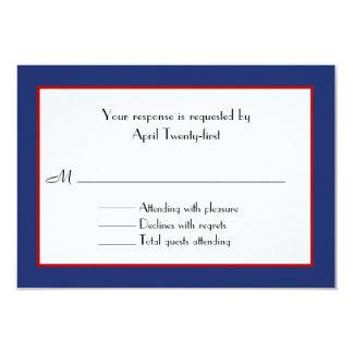 Red, White, & Blue Wedding RSVP Card