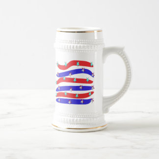 Red,White & Blue with Stars Mugs