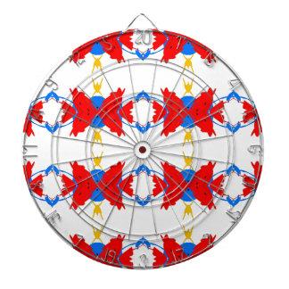 Red White Blue Yellow Boys Tribal Pattern Dartboard
