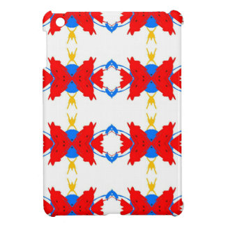 Red White Blue Yellow Boys Tribal Pattern iPad Mini Cover