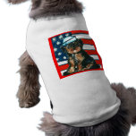 Red,White & Blue Yorkie Poo Dog Clothing
