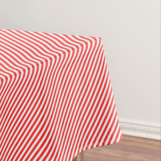 Red & White Candy Cane Stripe Tablecloth