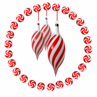 RED & WHITE CANDY WREATH by SHARON SHARPE Cut Outs