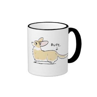 Red/White Cardigan Corgi Butt Mug