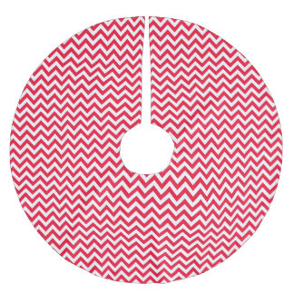 Red & White Chevron - Christmas Tree Skirt