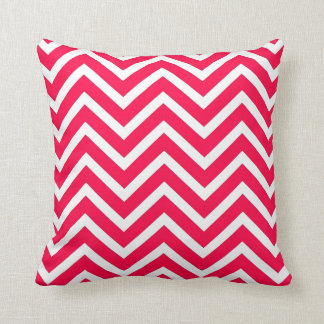 Red white Chevron  pattern cool hip summer Throw Pillow