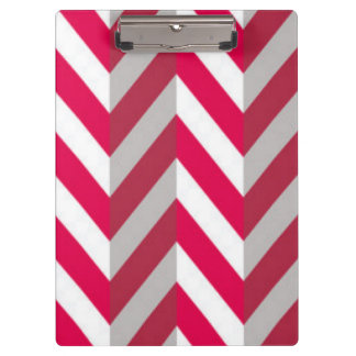 Red White Chevron Pattern Print Design Clipboards