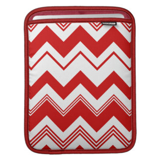 Red White Chevron Pattern Sleeves For iPads