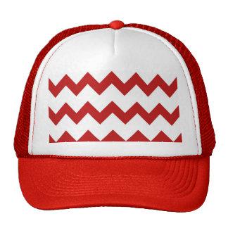 Red White Chevrons Hat