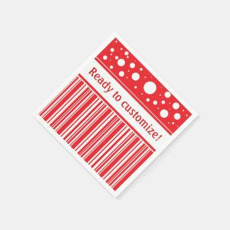 Red & White Christmas Disposable Napkin