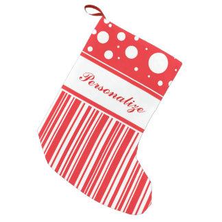 Red & White Christmas Small Christmas Stocking