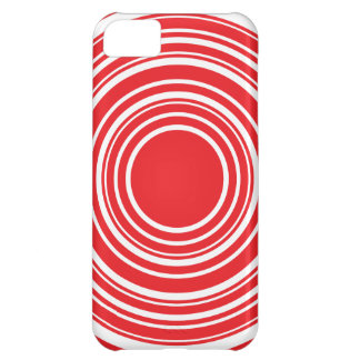 Red White Concentric Circles Bulls Eye Design iPhone 5C Cover