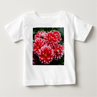 Red & White Dahlias Baby T-Shirt