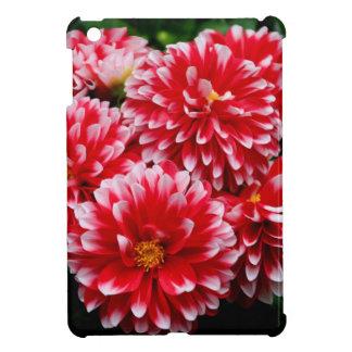 Red & White Dahlias iPad Mini Cover