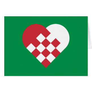 Red White Danish Heart Card