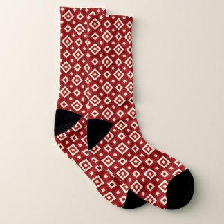 Red & White Diamonds Socks