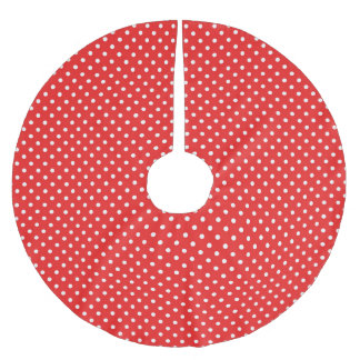 Red & White Dots - Christmas Tree Skirt