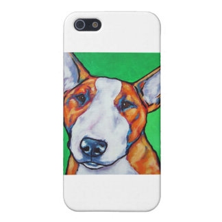 Red/white English Bull Terrier iPhone 5 Case