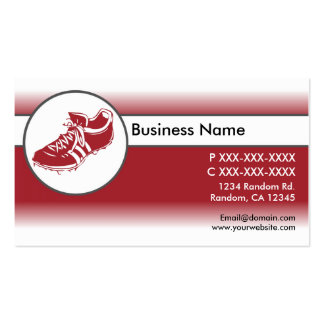 Red white fade sports shoe business cards