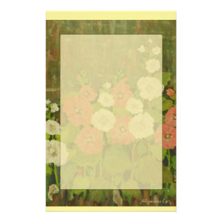 Red-White Floral Notepad Stationery