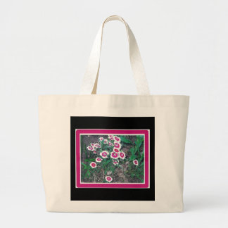 RED WHITE FLOWERS BAG