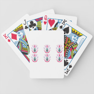 Red white folk ornaments bicycle playing cards