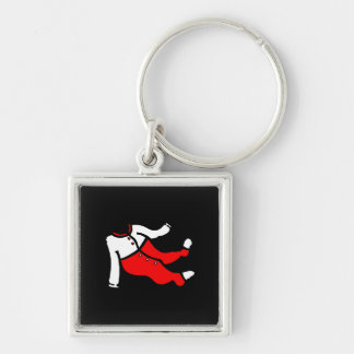 red white footy PJ s Key Chains