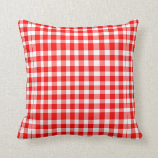 Red/White Gingham Pattern Cushion