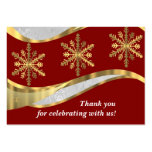 Red white & gold damask christmas