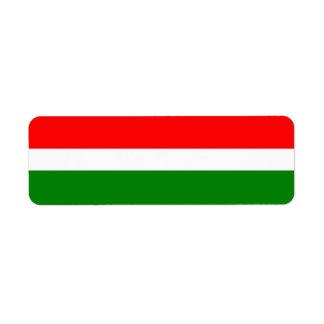 Red White Green Label Return Address Label