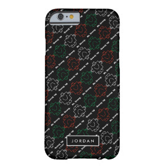 Red, White & Green Pattern | Add Your Name Barely There iPhone 6 Case