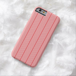 Red White Herringbone Zigzag Barely There iPhone 6 Case