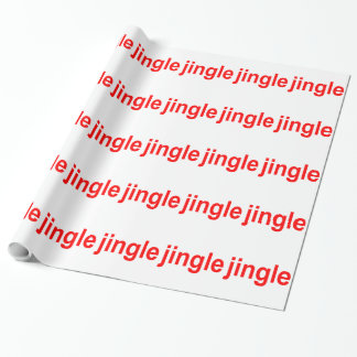 """Red White Jingle """"Stripes"""" Christmas Wrapping Paper"""