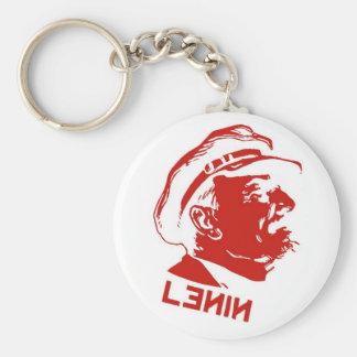 Red & White Lenin Communist Artwork Key Ring
