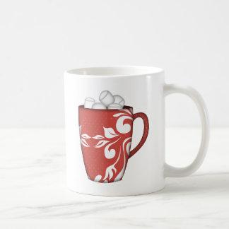RED WHITE MARSHMELLOW MUG HOT CHOCOLATE SNOWY DAYS