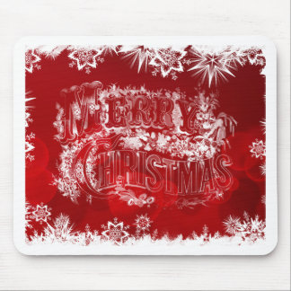 Red & White Merry Christmas Mouse Pad