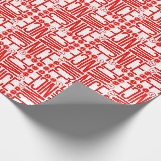 Red & White Nice Christmas Wrapping Paper