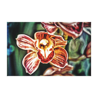 Red White Orchid Canvas Print