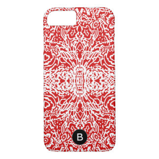 Red & White Patterned Cell Phone Case for Her