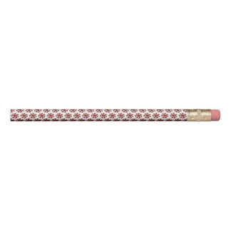 Red White Peppermint Candy Mint Holiday Christmas Pencil