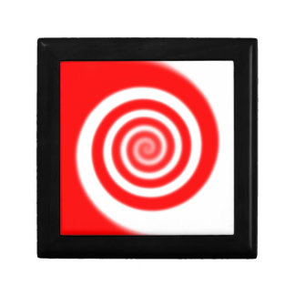 Red & White Peppermint Candy Swirl Gift Box