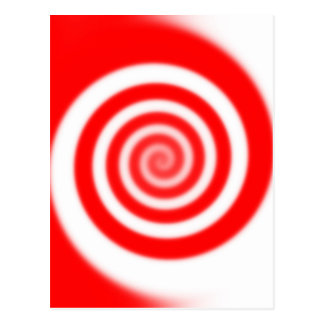 Red & White Peppermint Candy Swirl Postcard