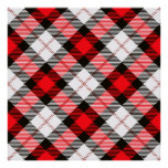 red white plaid poster