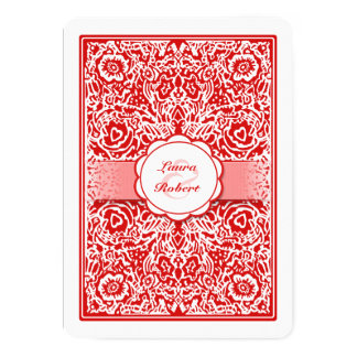 Red & White Playing Card - Hearts Wedding Invite