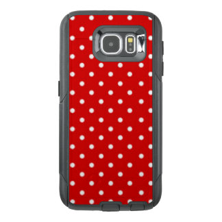 Red White Polka Dot Pattern Print Design OtterBox Samsung Galaxy S6 Case