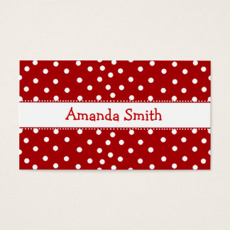 Red & White Polka Dot Play Date Card
