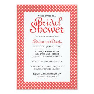 Red & White Polka Dots Bridal Shower Invitations