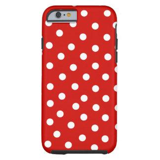 red white polkadot tough iPhone 6 case