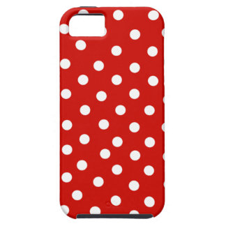 red white polkadot iPhone 5 cover